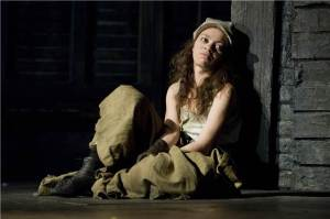 Rosalind James as Eponine in Les Miserables
