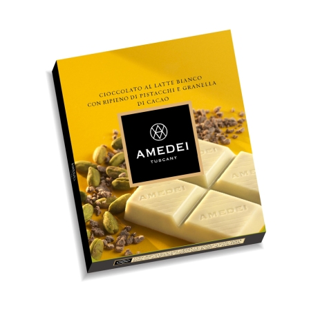 Amedei White Chocolate filled with Pistachios
